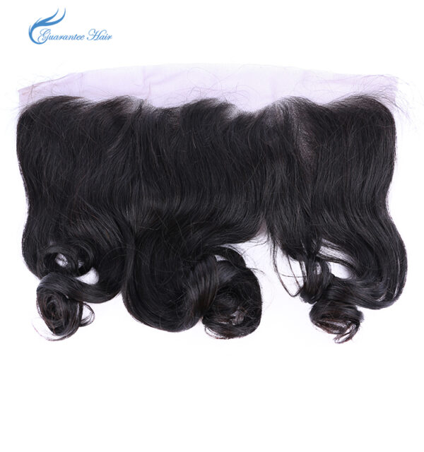 Remy virgin human lace frontal 13*4 loose wave natural color ear to ear closure