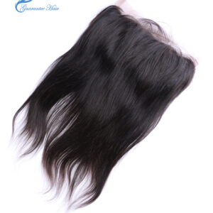 Brazil remy virgin human 100% handmade 360 lace frontal straight natural color free part