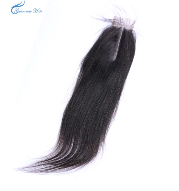 Human hair closure for straight 2*6 middle part kim k closure Africa mama love