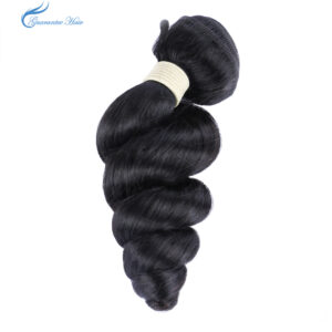 Guarantee hair original virgin human hair (10A) high quality natural color loose wave hair bundle