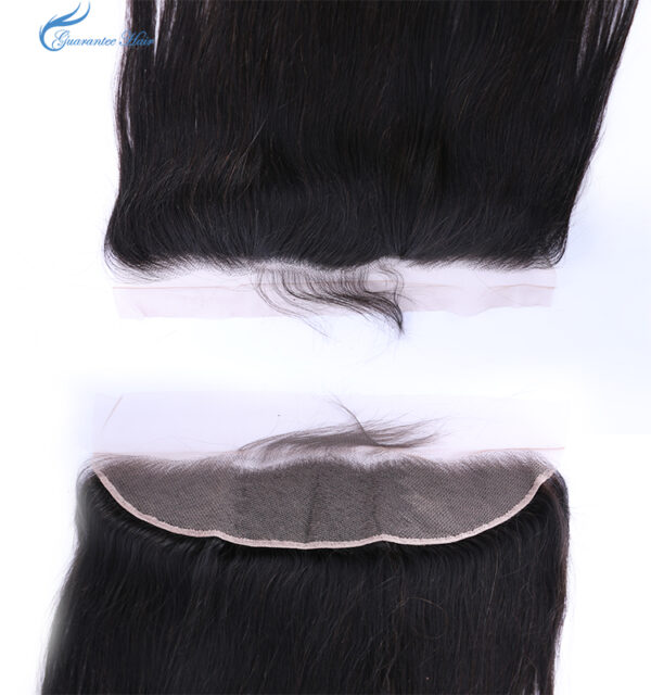 Remy virgin human ear to ear lace frontal 13*4 straight natural color free part