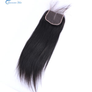 Guarantee hair remy virgin human lace closure straight natural color 4*4