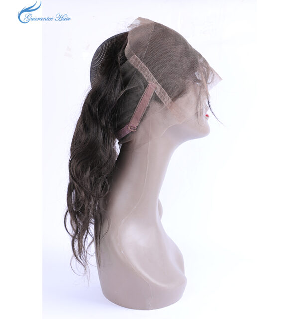 Remy virgin human 100% handmade 360 lace frontal body wave natural color free part