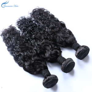 Guarantee hair unprocessed virgin remy 100% human hair water wave natural color