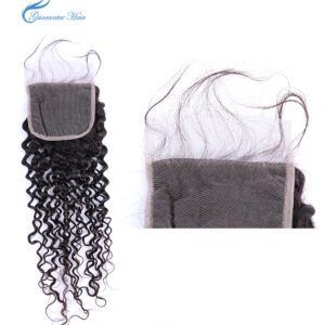Virgin 100% natural closure for kinky wave 4*4 middle part closure