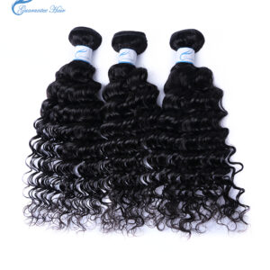 Guaranteehair factory price 8A Brazilian deep wave human hair extension bundles from 10inches to 28inches high quality human hai