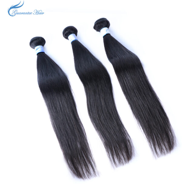 Virgin straight brazilian human hair bundles