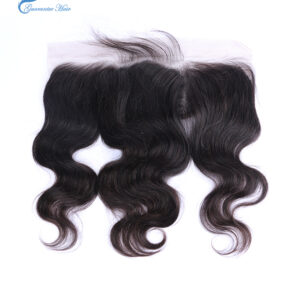 Guarantee hair human hair lace frontal 13*4 body wave natural color ear to ear closure