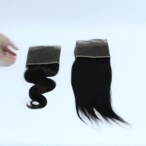 Remy virgin human 13*4 lace frontal body wave natural color free part