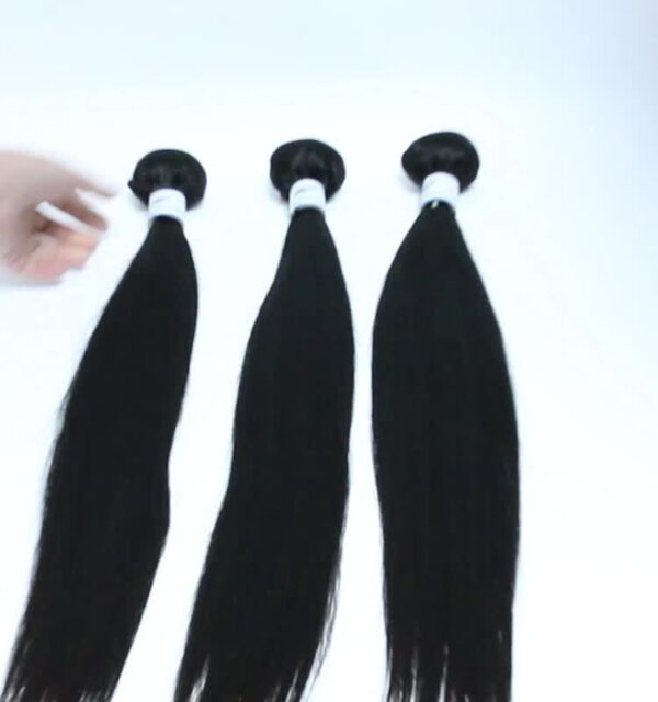 Guarantee hair unprocessed virgin human (10A) hair straight bundle natural color