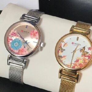 CURREN New Ladies Flower Stainless Steel Watches